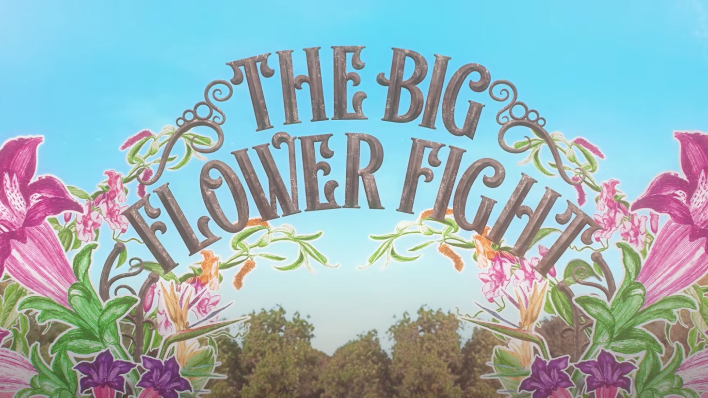 """On Netflix's """"The Big Flower Fight,"""" 10 pairs of competitors see who can construct the largest and most creative garden sculptures."""