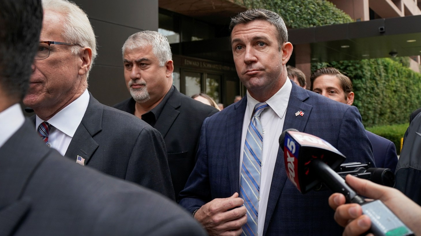 U.S. Representative Duncan Hunter leaves federal court after pleading guilty to misusing campaign funds in San Diego, California, U.S., December 3, 2019.