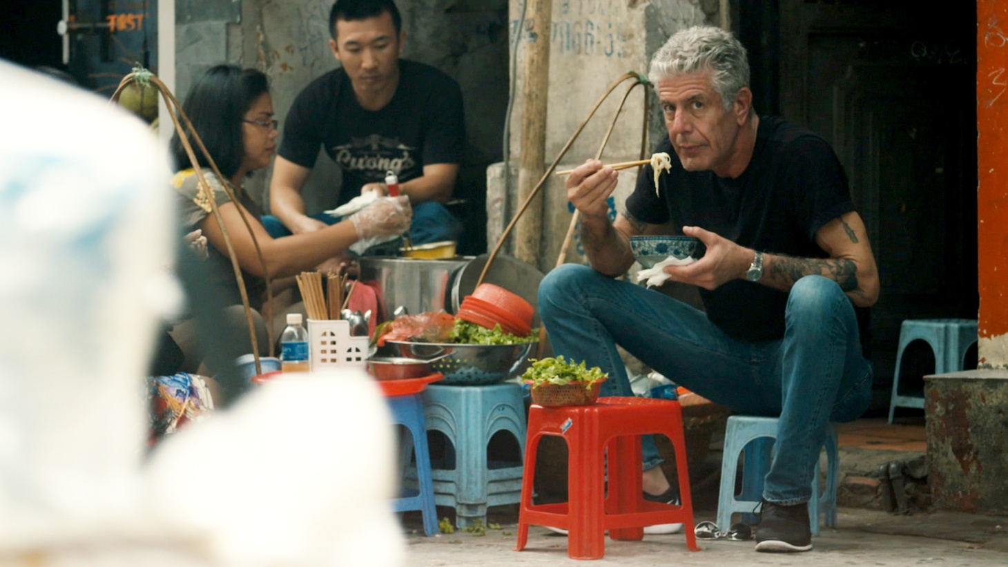 """""""[Anthony Bourdain] really had to figure out how to be himself on television. In no way was he a natural. What he was was smart and quick and funny. And he just had to figure out how to do that on camera, which he did, and did it incredibly well,"""" says Morgan Neville, director of """"Roadrunner."""""""