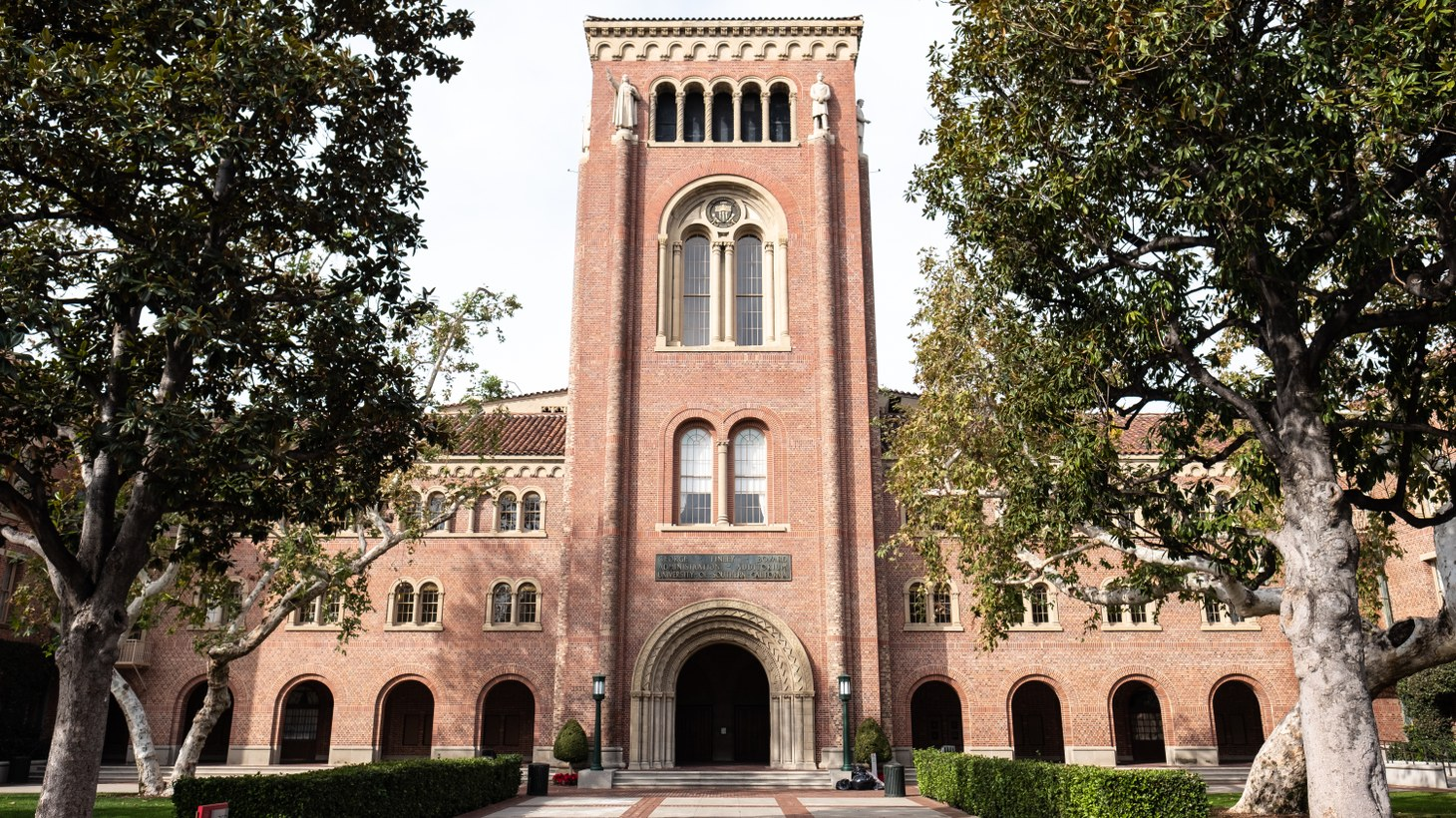 USC's Bovard Auditorium. If colleges don't offer in-person instruction this fall, international students must leave the country, according to U.S. Immigration and Customs Enforcement.