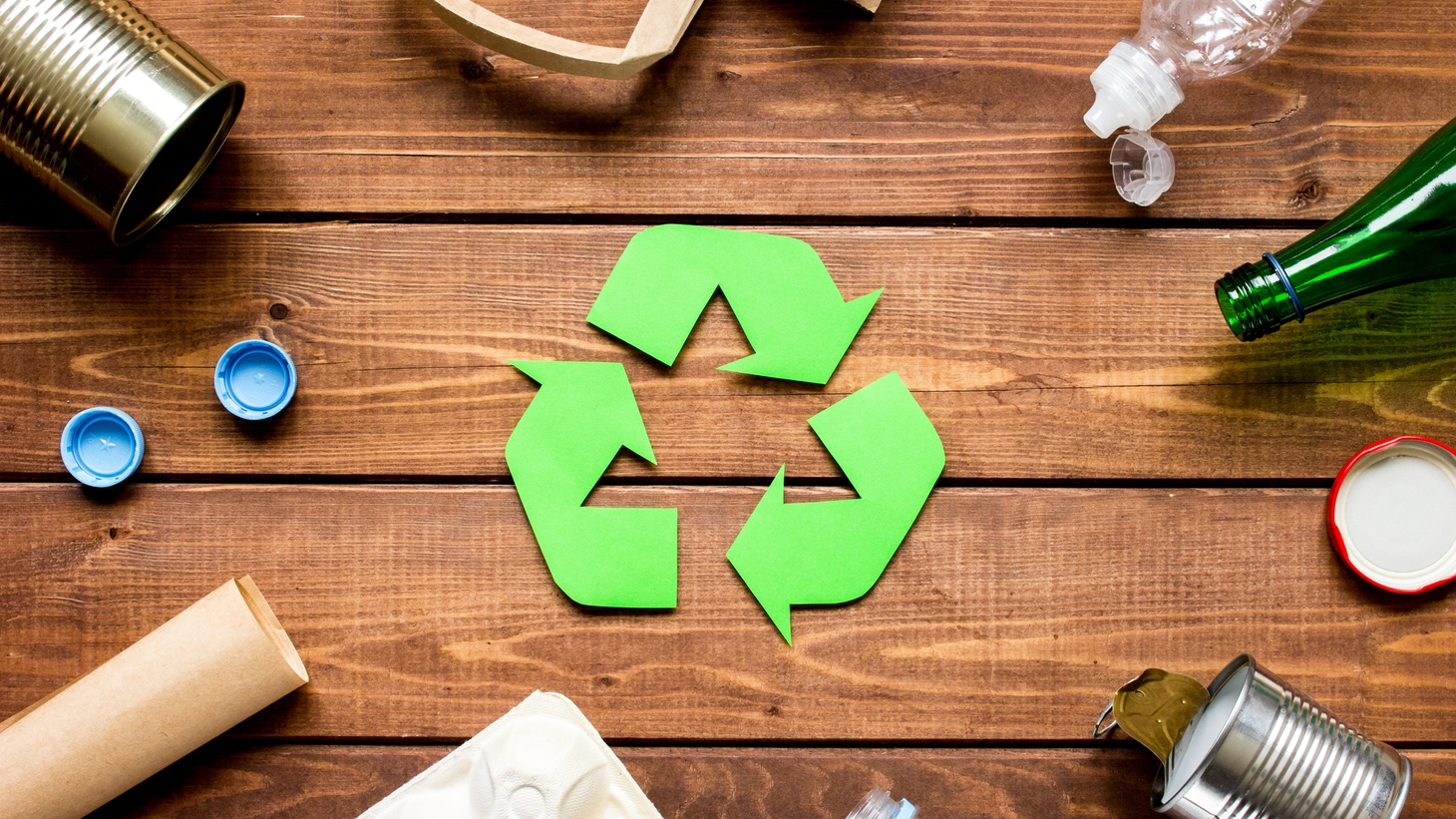 """The """"chasing arrows"""" symbol is often on plastic products that end up in landfills. """"A lot of these items are theoretically recyclable under perfect conditions, but they're not actually recycled or recyclable under real-world conditions,"""" says State Senator Ben Allen."""