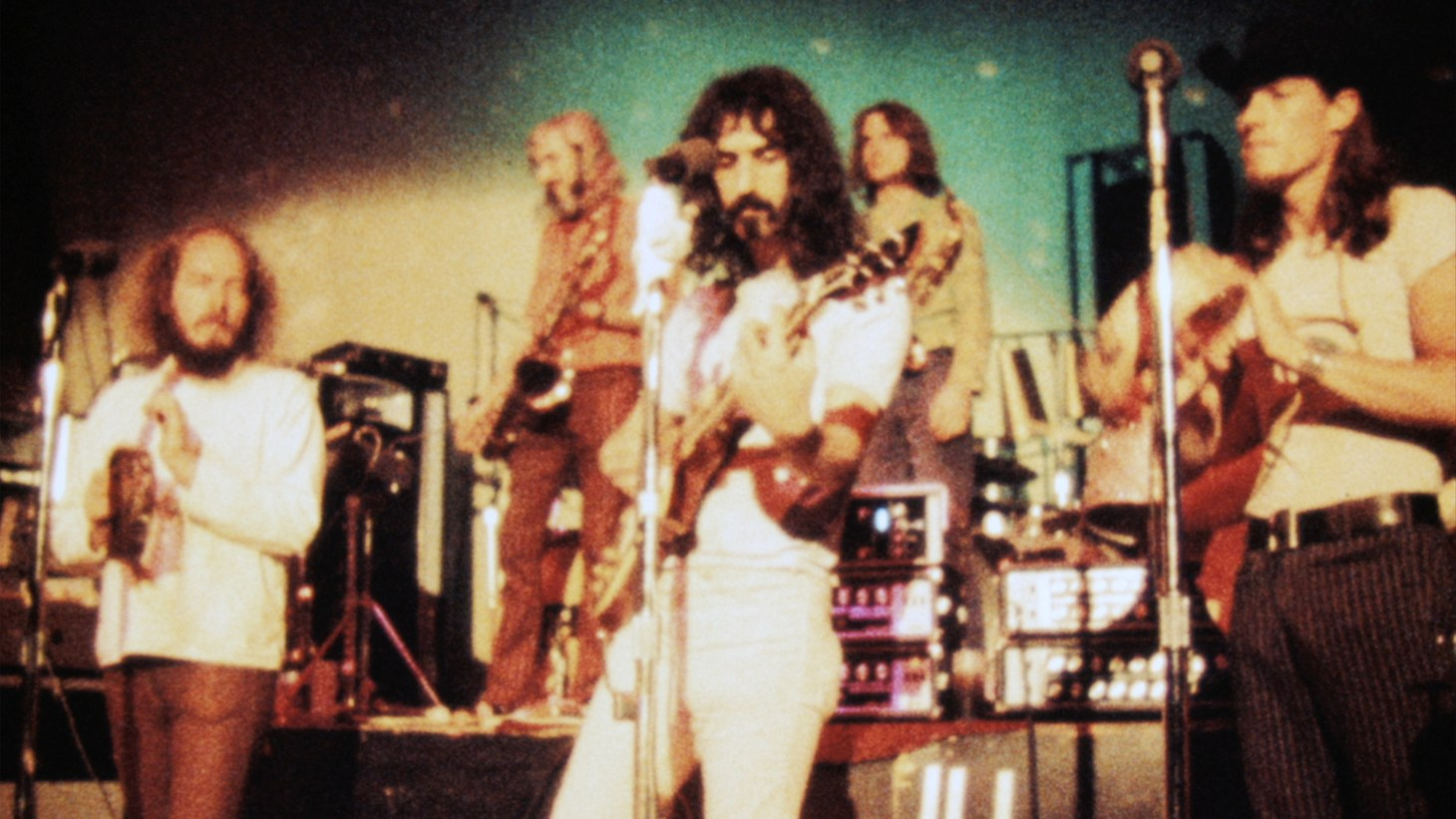 """Frank Zappa performing with the Mothers of Invention in """"Zappa."""""""