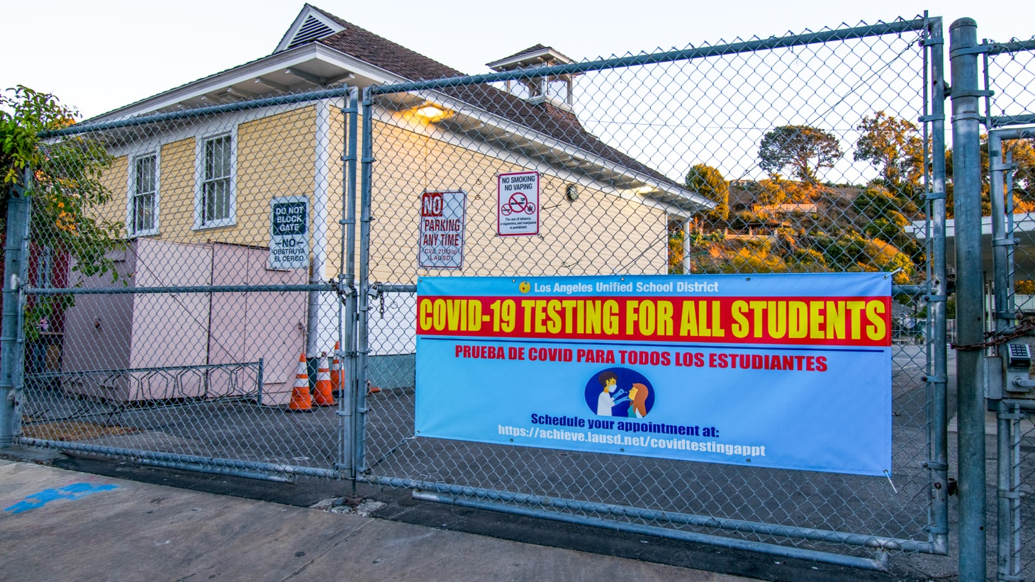 Canyon Charter Elementary in Santa Monica offers COVID-19 testing for all students.