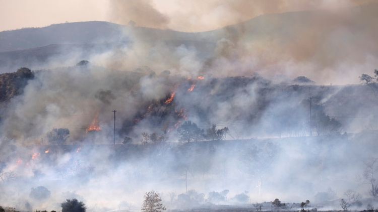 Fires are raging in Orange County today, already scorching more than 3500 acres.