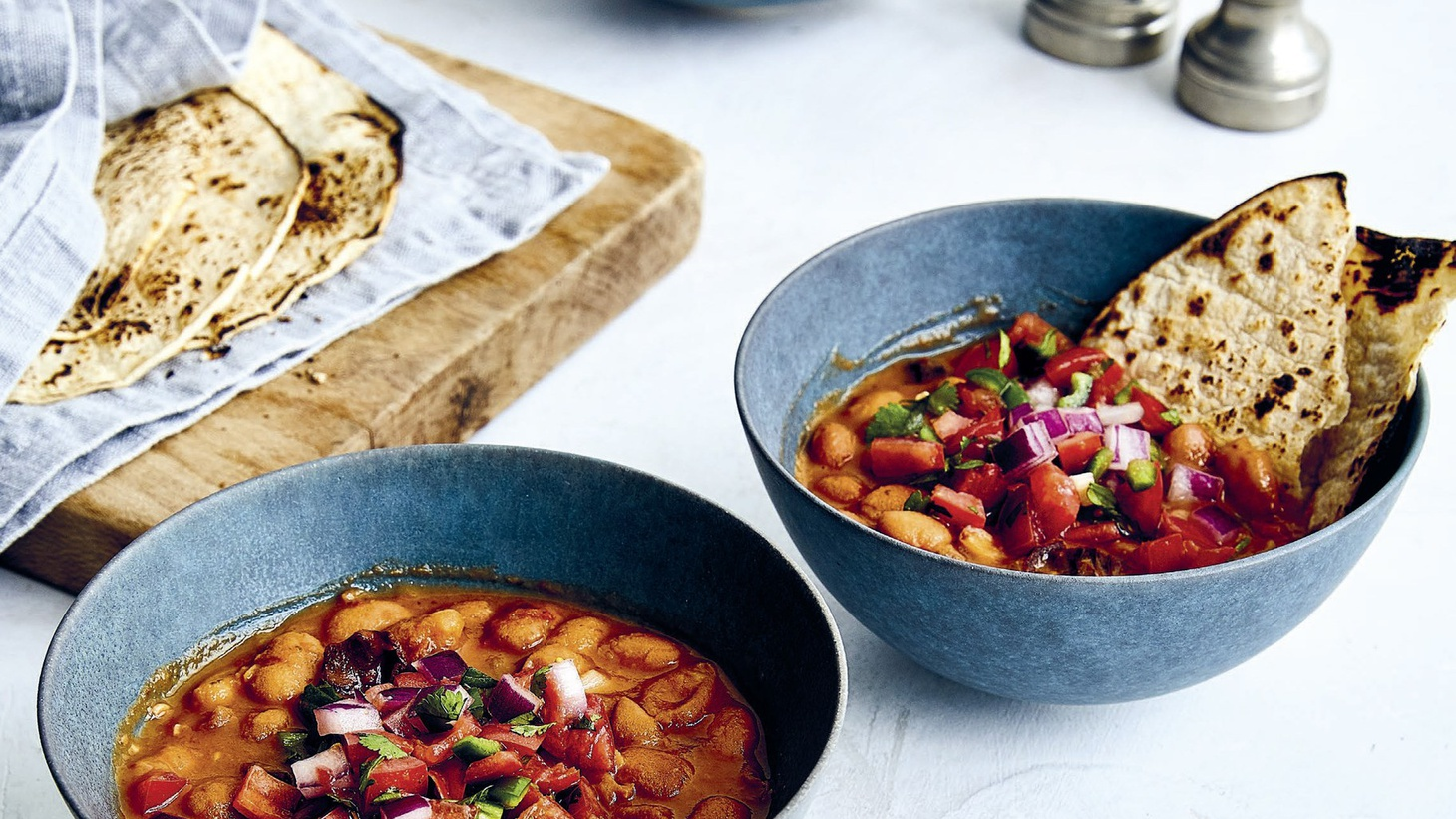 """Lalo's Cacahuate beans with pico de gallo — it's one recipe in Joe Yonan's book """"Cool Beans."""""""