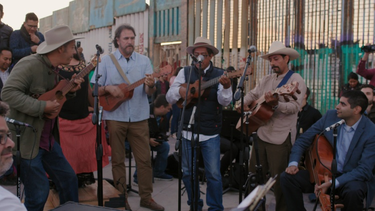 "Every year along the U.S.-Mexico border in Tijuana, musicians gather for an international music festival called the ""Fandango Fronterizo."""