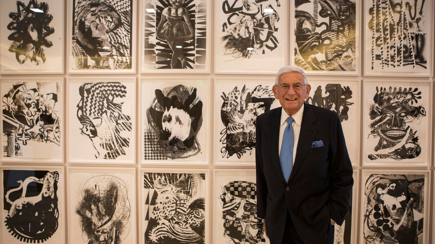 Eli Broad stands in his office, with lots of artwork in the background, on Sept. 9, 2015, in Los Angeles.