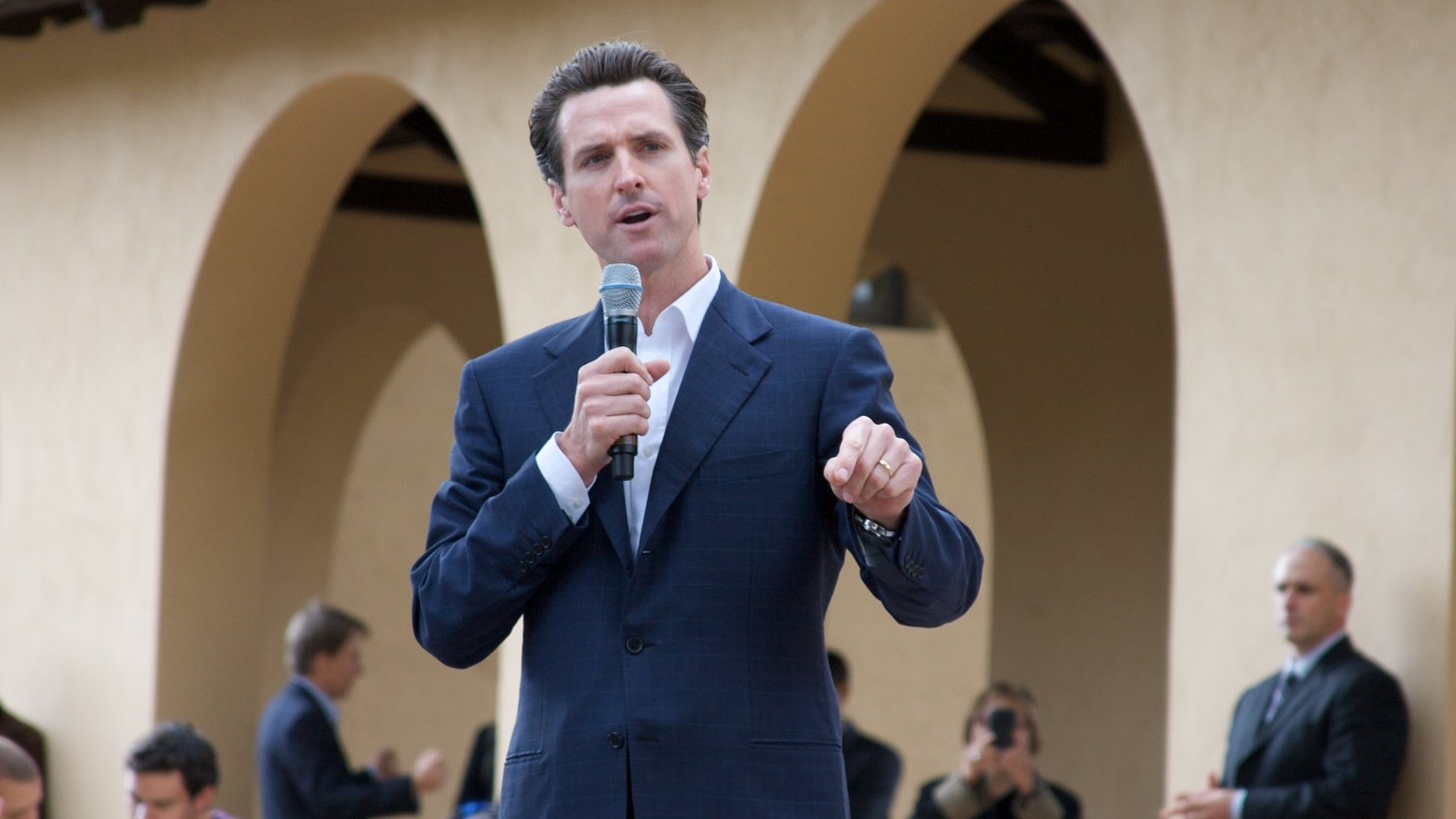"""""""This phase is one where science, where public health, not politics, must be the guide,"""" Governor Gavin Newsom said during his press conference on reopening California's economy."""