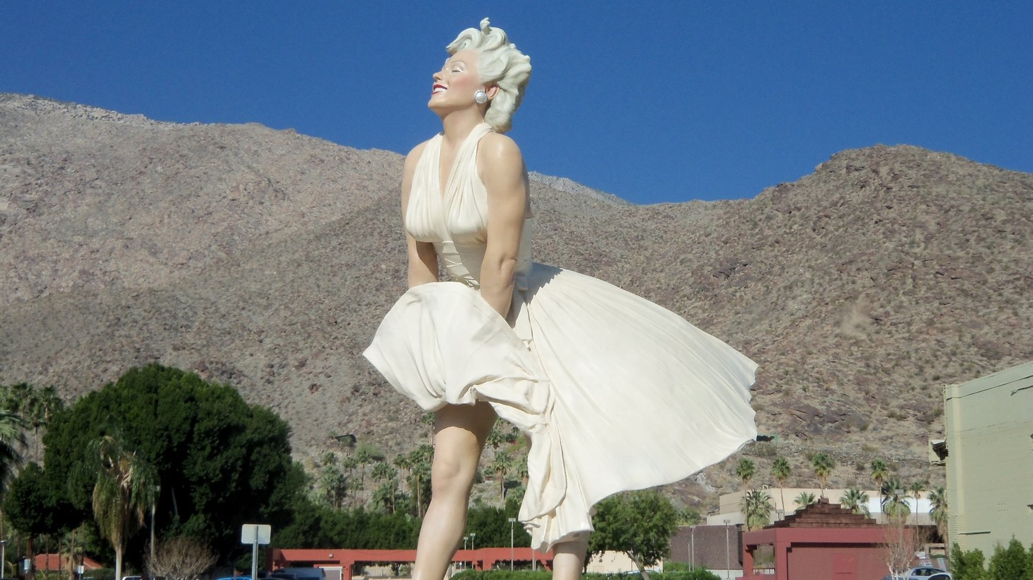 """The """"Forever Marilyn"""" statue in Palm Springs, 2013. It'll soon return to the area after being on tour across the U.S. for the past few years."""