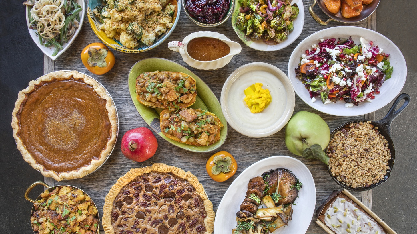 Akasha in Culver City offers many Thanksgiving dishes for you to take away and eat at home this year, from pies to stuffing to sides.
