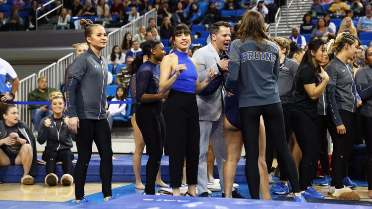 """I always looked up to UCLA. ... When I started getting into dance, I completely stepped away from the world of gymnastics. But as I saw that college gymnastics evolved ..."
