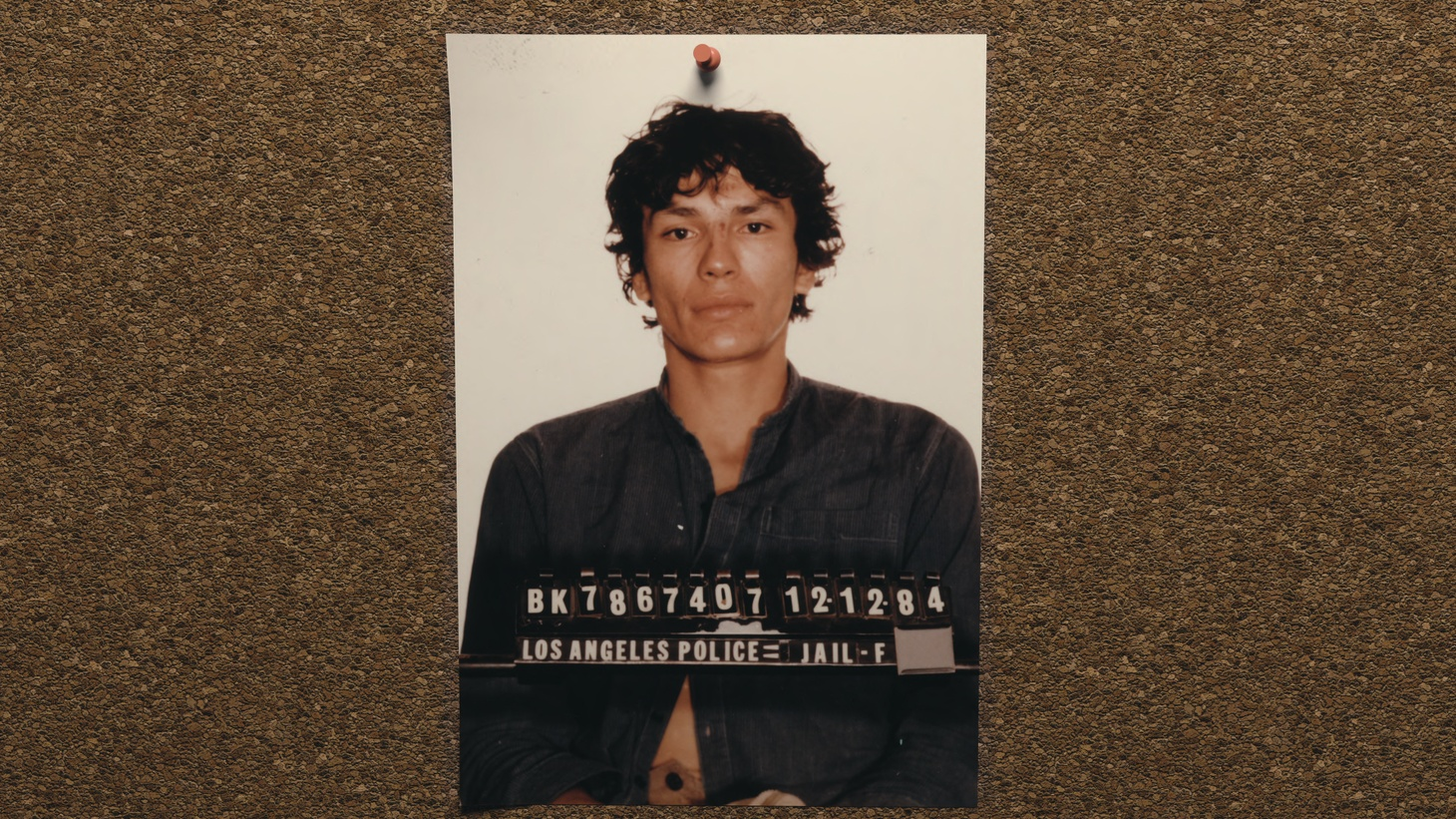 """A photograph of Richard Ramirez in """"Night Stalker: The Hunt For A Serial Killer."""""""