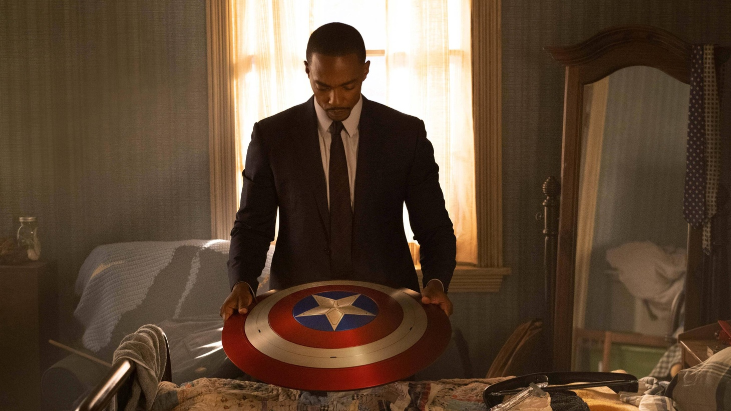 """Anthony Mackie in """"The Falcon and The Winter Soldier"""" on Disney+."""