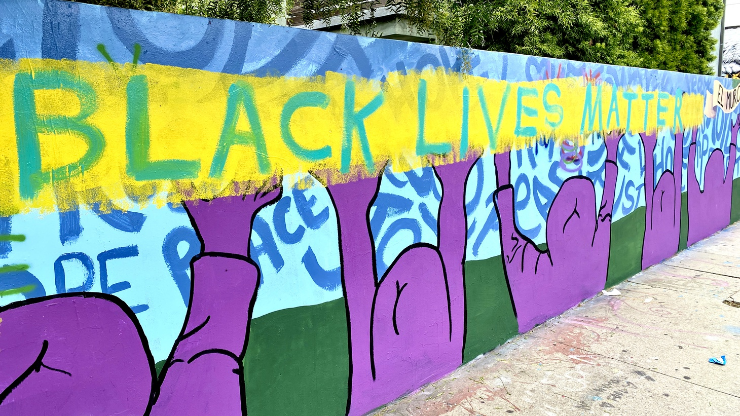A Black Lives Matter mural in Venice, California. What's next for the movement in 2021?