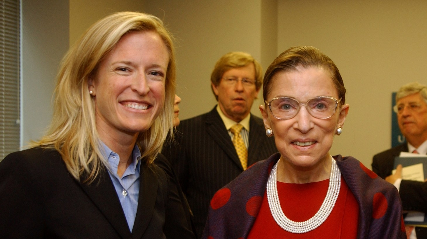 """Berkeley law professor Amanda L. Tyler with Justice Ruth Bader Ginsburg in 2005. """"She used to tell her clerks, 'You can have it all, may not be able to have it all at the same time, but you can have it all.' She had a patience about her that I think also fed into an optimism of all that we could accomplish. But she understood you wouldn't always necessarily be able to do it overnight,"""" says Tyler."""