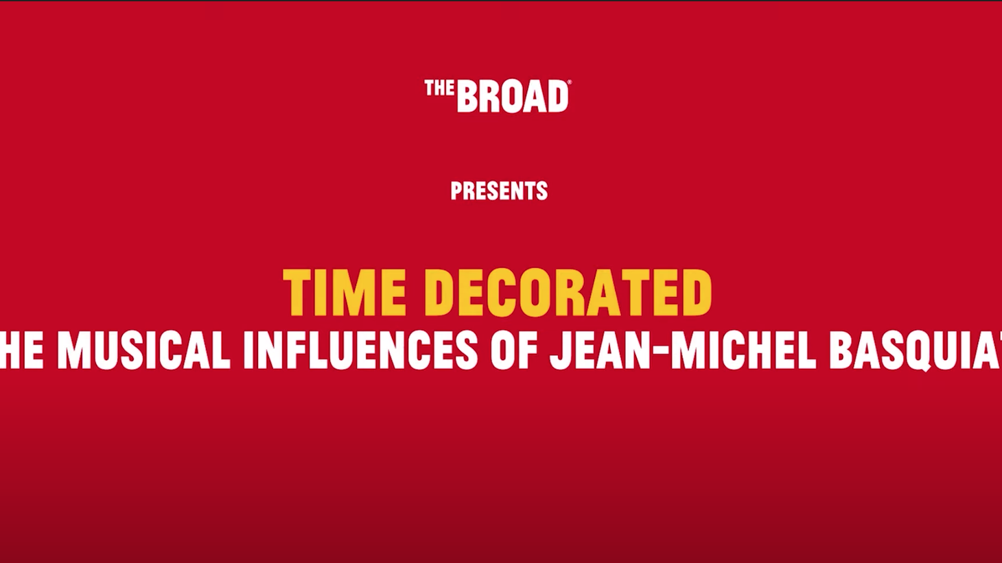 """Dr. Todd Boyd hosts the third and final part of the Broad Museum's """"Time Decorated"""" series about Jean-Michel Basquiat. Boyd explains how Basquiat connected bebop and hip-hop."""
