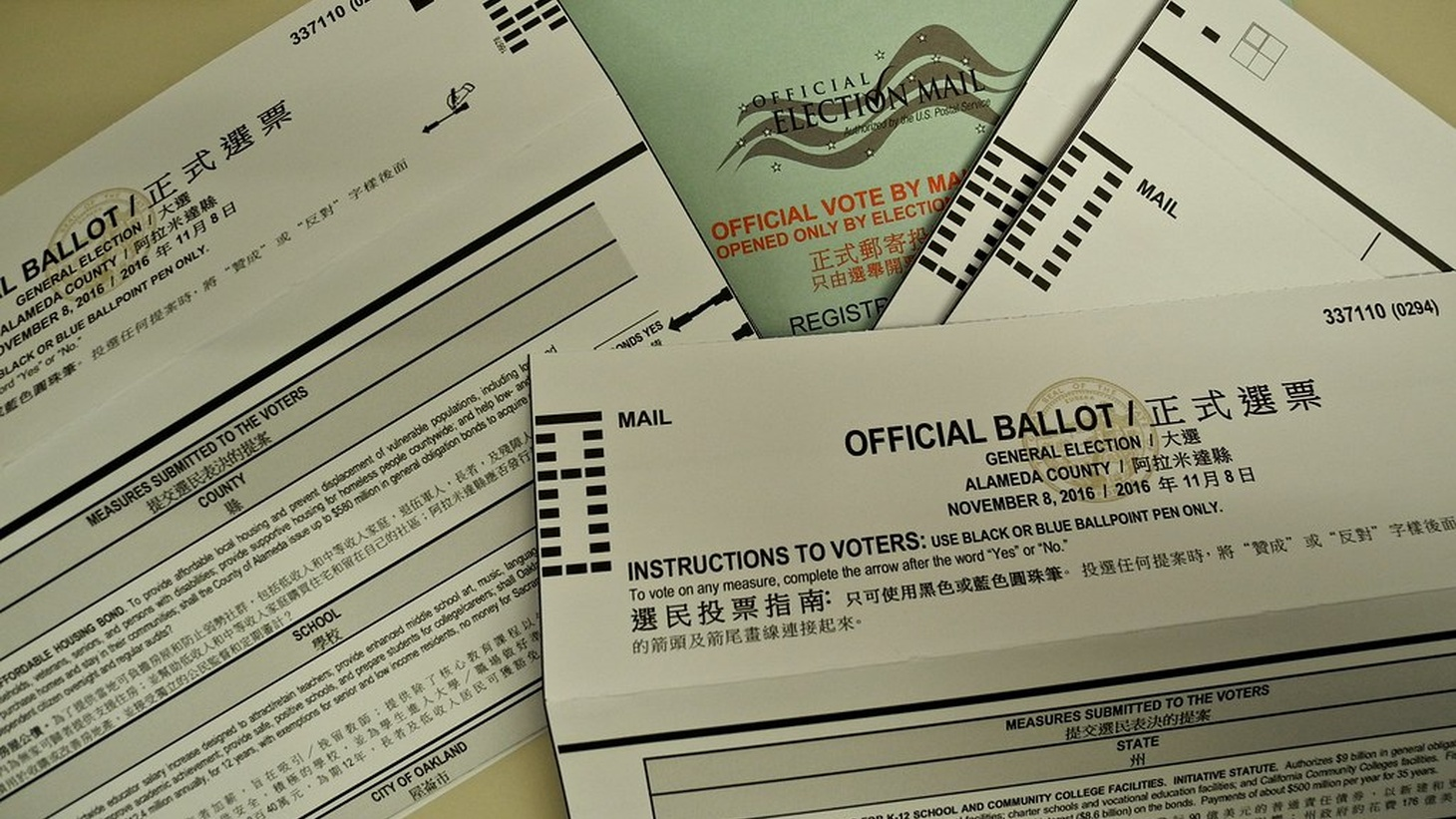 An Alameda County ballot. With the coronavirus still spreading, more states could look to vote-by-mail for the November election.