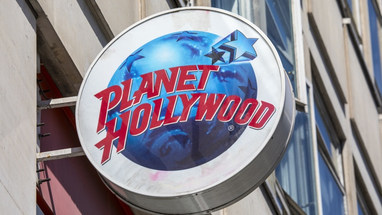 Planet Hollywood is the movie-themed restaurant chain where walls are filled with props from blockbusters.