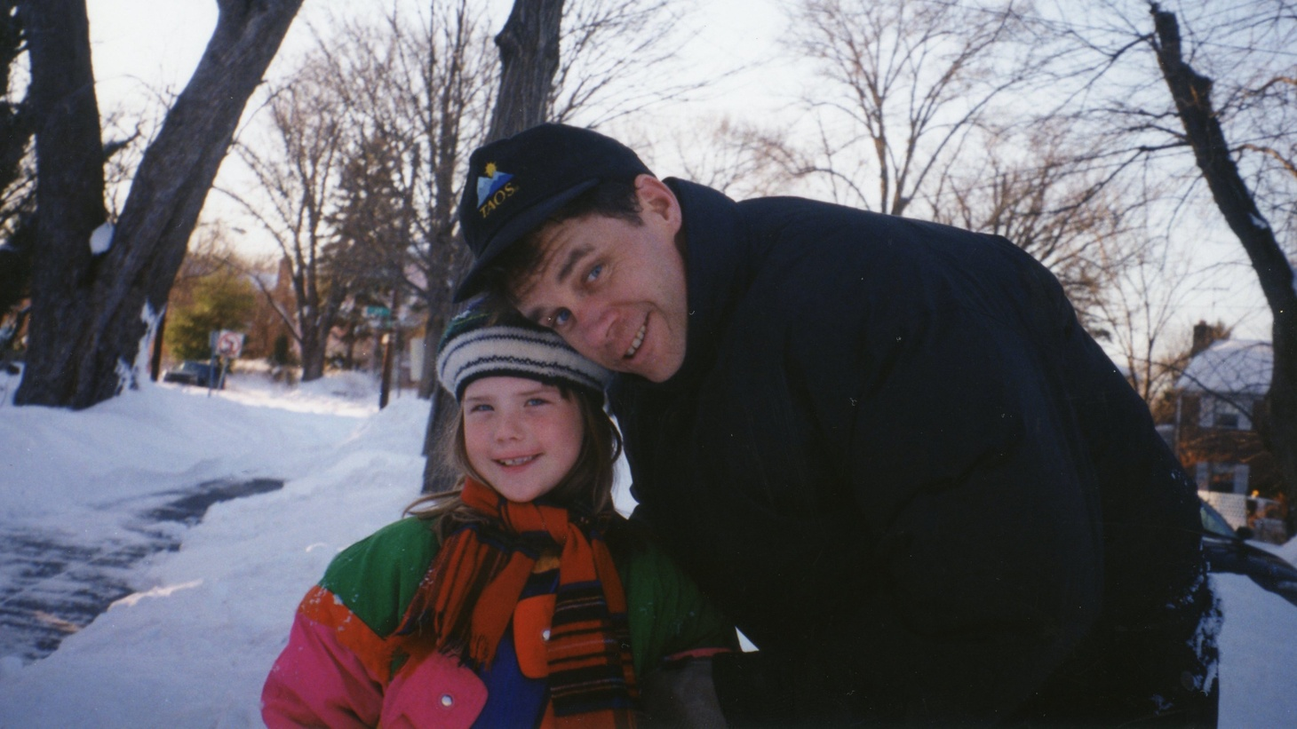 Erin Lee Carr with her father.