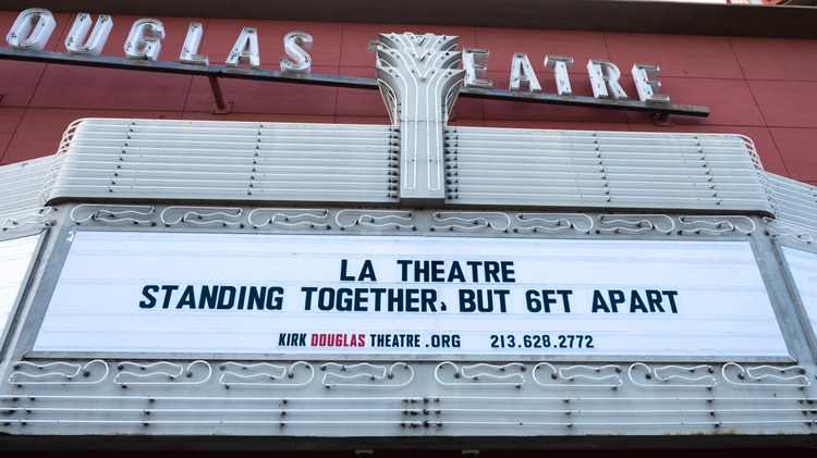 For theaters in LA, there's no timetable for reopening. Half of the staff for Center Theatre Group have been furloughed.