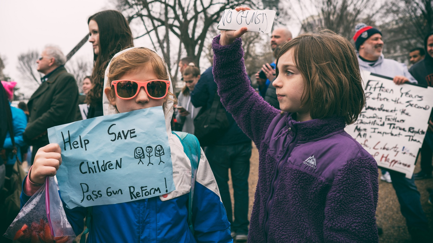 A rally at the White House to protest gun laws, organized by Teens For Gun Reform, in the wake of the mass shooting at Marjory Stoneman Douglas High School in Parkland, Florida.