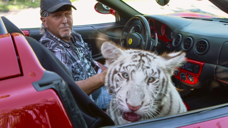 """Tiger King"" is a true crime documentary series about Joe Exotic, a tiger breeder and former zoo owner."