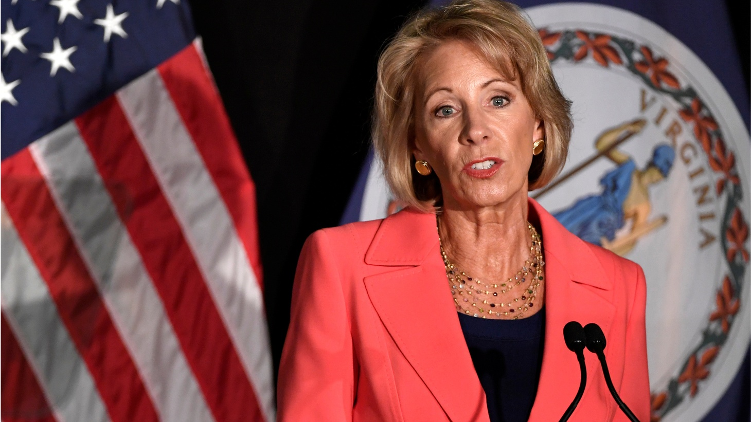 Education Secretary Betsy DeVos said the Obama administration used Title IX -- the campus gender equality law -- to coerce and intimidate universities to overreach when handling sex assault cases. She pointed to a case involving a former USC football player who was kicked out of school after a Title IX investigation.