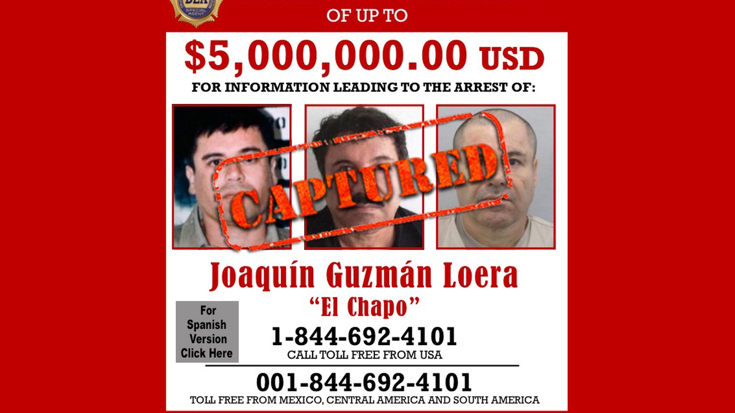 """We begin today with the details of this morning's capture of fugitive drug kingpin """"El Chapo."""""""