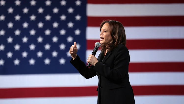 Kamala Harris is both the first Black woman and the first South Asian woman to appear on a major party's presidential ticket. Her mother is Indian and her father is Jamaican.