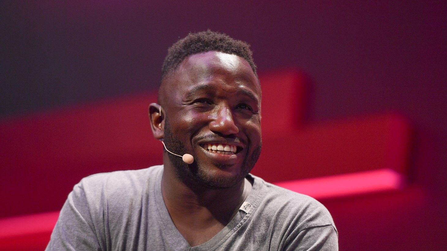 Hannibal Buress on Startup University Stage during day three of RISE 2019 at the Hong Kong Convention and Exhibition Centre in Hong Kong.