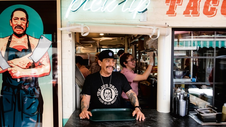 Danny Trejo owns a series of restaurants and a donut shop in LA, and recently donated and served thousands of meals to frontline workers and food insecure families.
