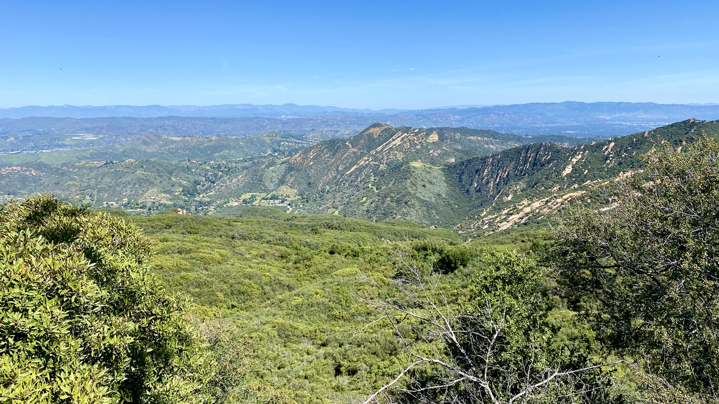 The view at the top of Stunt Road in Calabasas shows clear skies. But while most people are focused on the coronavirus pandemic, the Trump is rolling back more environmental regulations. April 25, 2020.