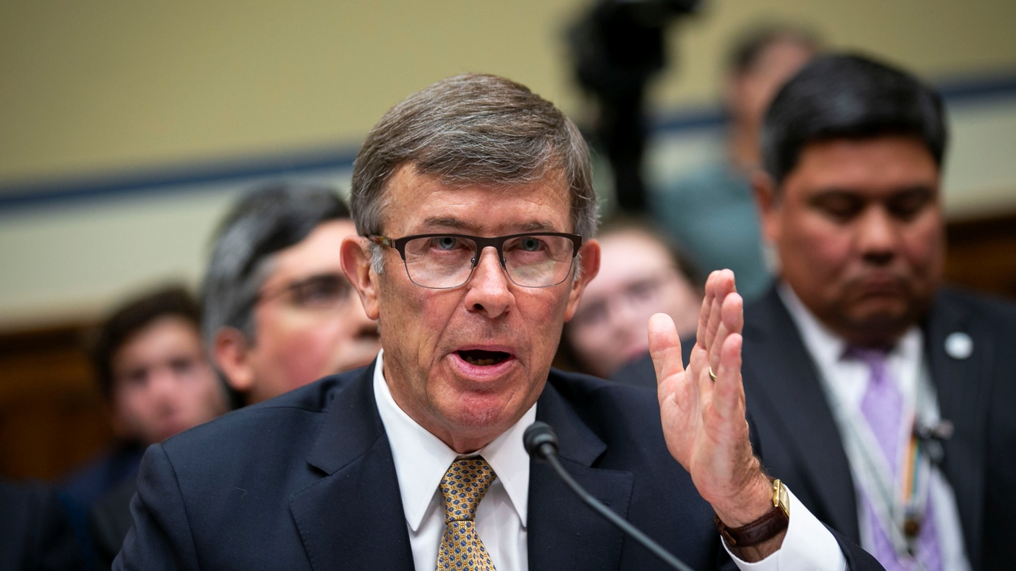 oseph Maguire, acting director of national intelligence, testifies during a House Permanent Select Committee on Intelligence, on Capitol Hill in Washington, U.S., September 26, 2019.