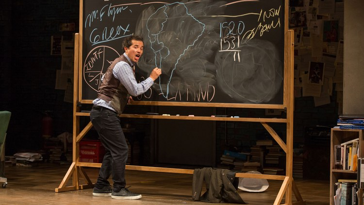 """John Leguizamo's latest one-man theater show is """"   Latin History for Morons   ,"""" in which he explains the chapters of Latin history that are often omitted from textbooks."""