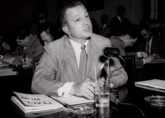 Edward Dmytryk testifying before the House Un-American Activities Committee