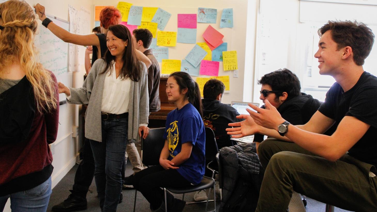 Shafia Zaloom teaching.