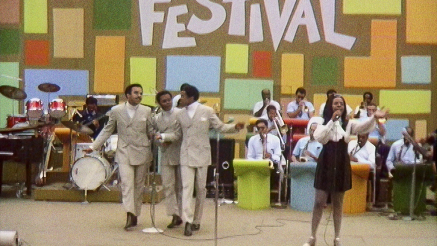 """Gladys Knight and the Pips perform at the Harlem Cultural Festival in 1969, featured in the documentary """"Summer of Soul."""""""