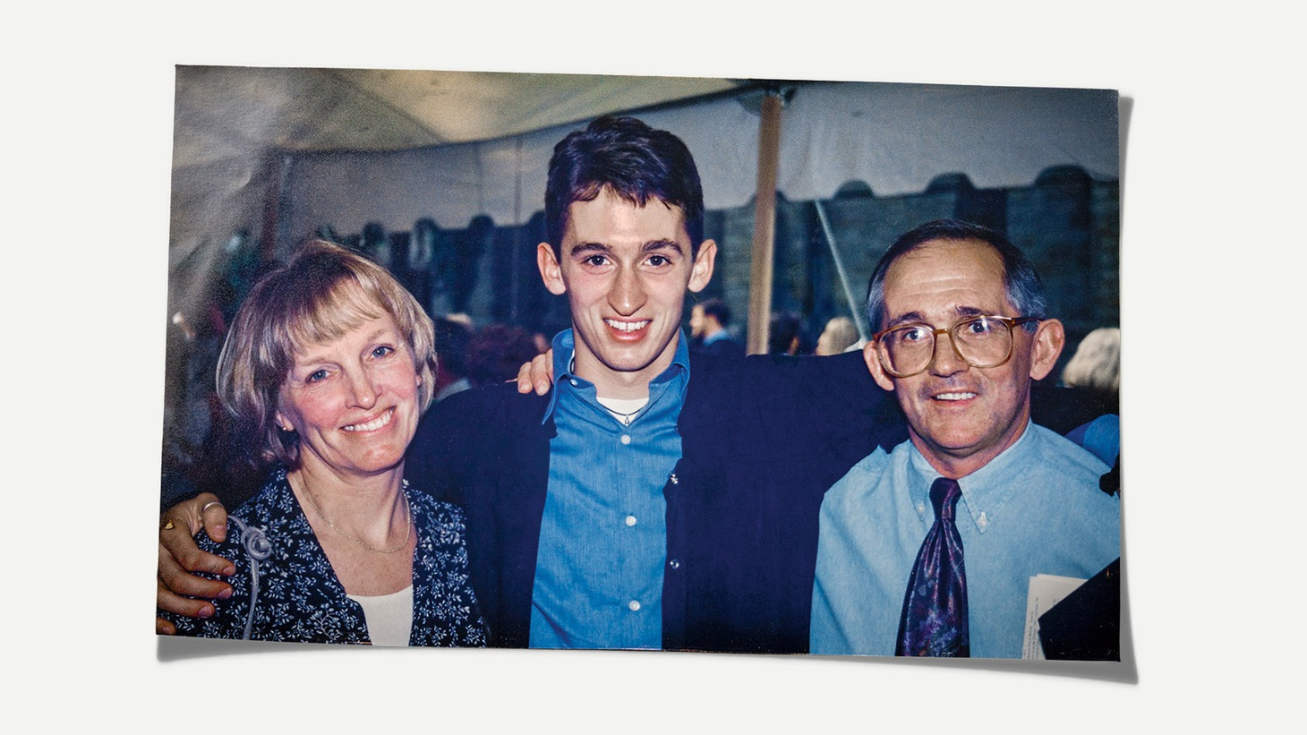 Bobby McIlvaine, with his parents, Helen and Bob Sr., at his Princeton graduation in 1997. Bobby McIlvaine's body was found in the wreckage of the Twin Towers. Photo by Danna Singer, courtesy of The Atlantic.