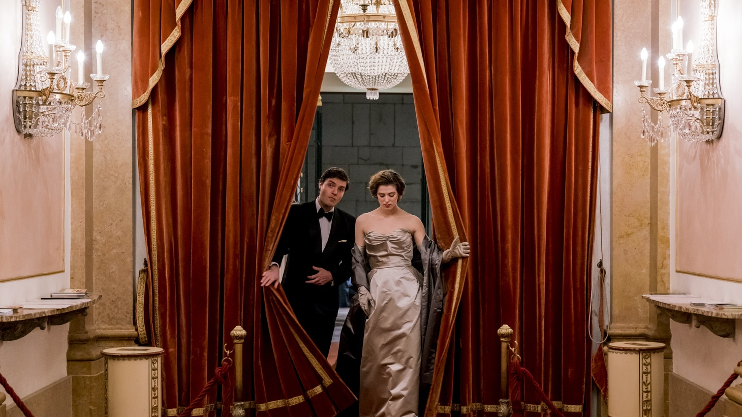 "Tom Burke and Honor Swinton Byrne in ""The Souvenir."""