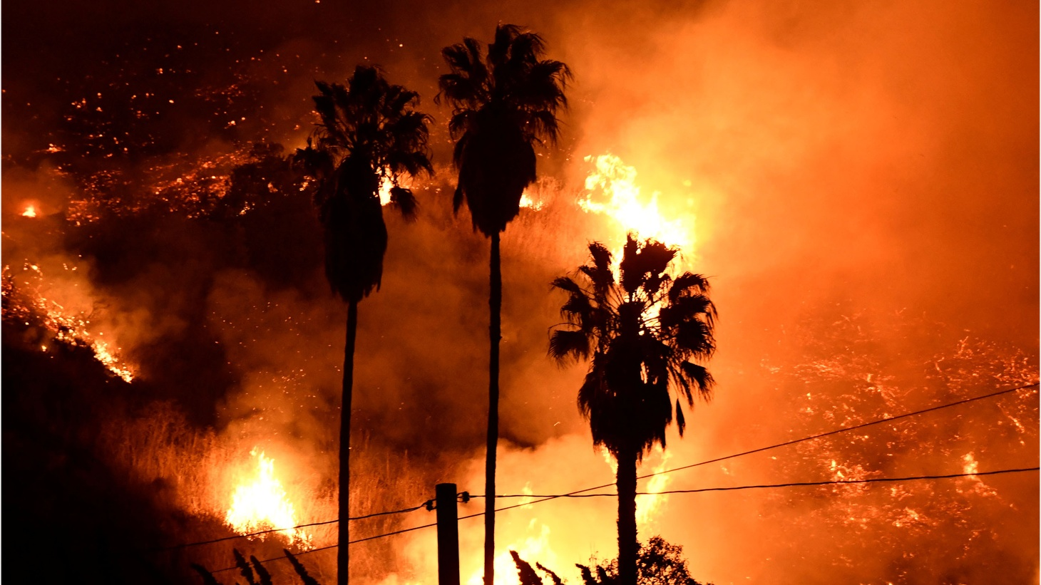Three fires are raging out of control in Southern California: One in Ventura, one in Sylmar, and one in Santa Clarita. Tens of thousands of people are under evacuation orders.