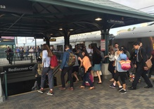 For Some, a Chaotic Morning Commute on the New Expo Line