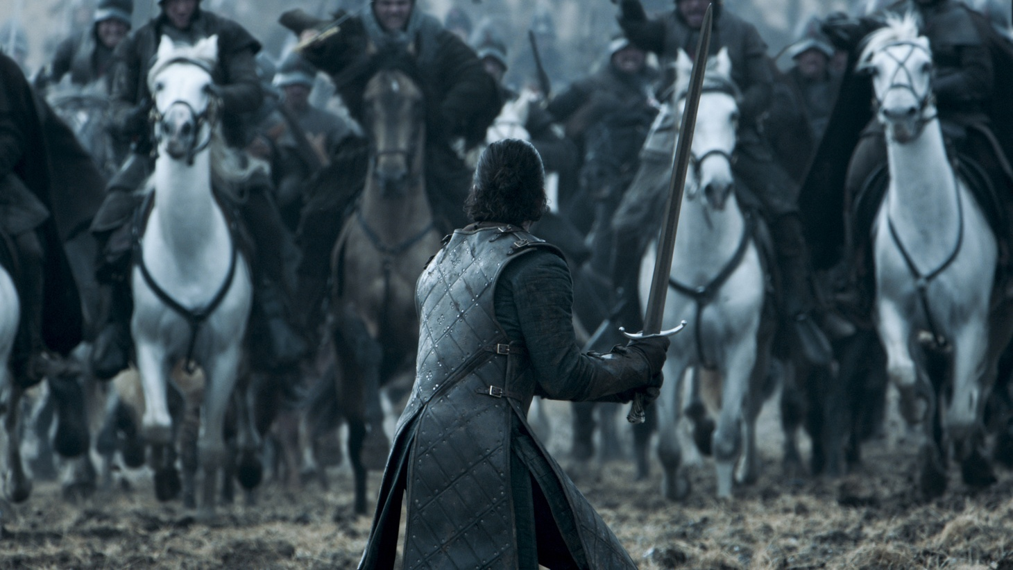 "Jon Snow (Kit Harrington) in Game of Thrones ""Battle of the Bastards""."