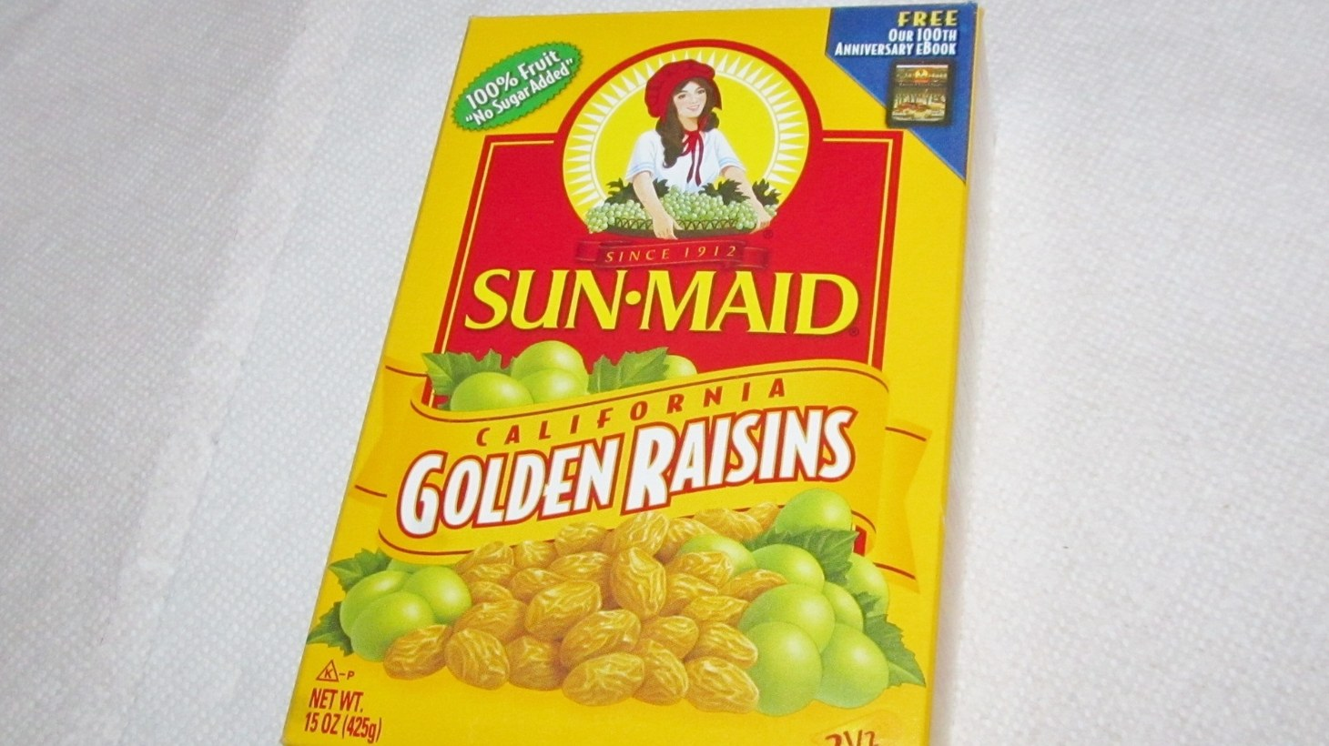 Sun-Maid golden raisins.