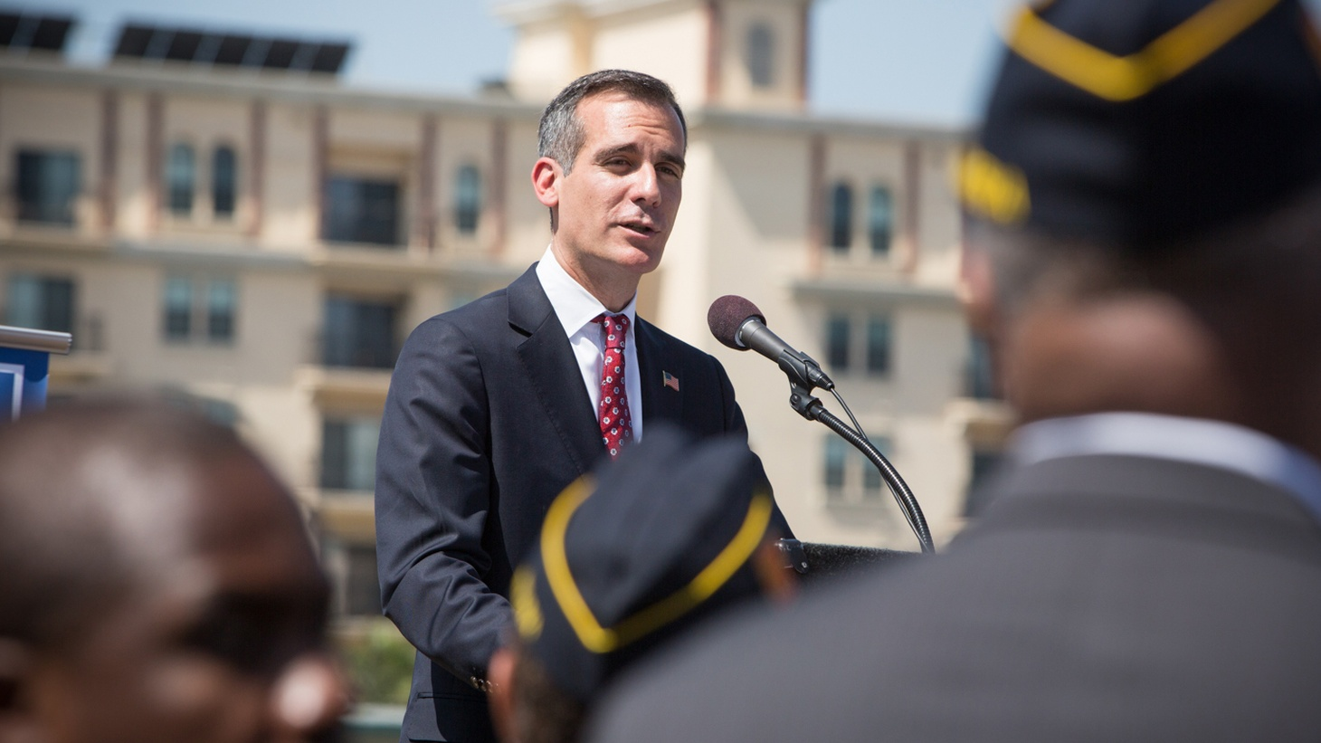 Last summer, Mayor Eric Garcetti pledged to end veteran homelessness in Los Angeles by the end of this year. Garcetti has since had to extend that deadline to next summer. And: what kind of person would think they are qualified to be the leader of the most powerful country on earth?