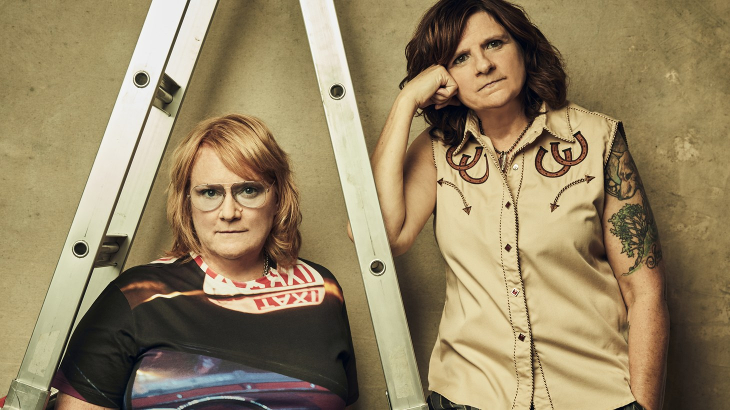 "Emily Saliers (left) and Amy Ray (right) are The Indigo Girls. ""The benefits that we choose to play, and the causes that we choose to become educated and involved with are things that we both put our hearts and souls and minds into,"" says Emily Saliers."