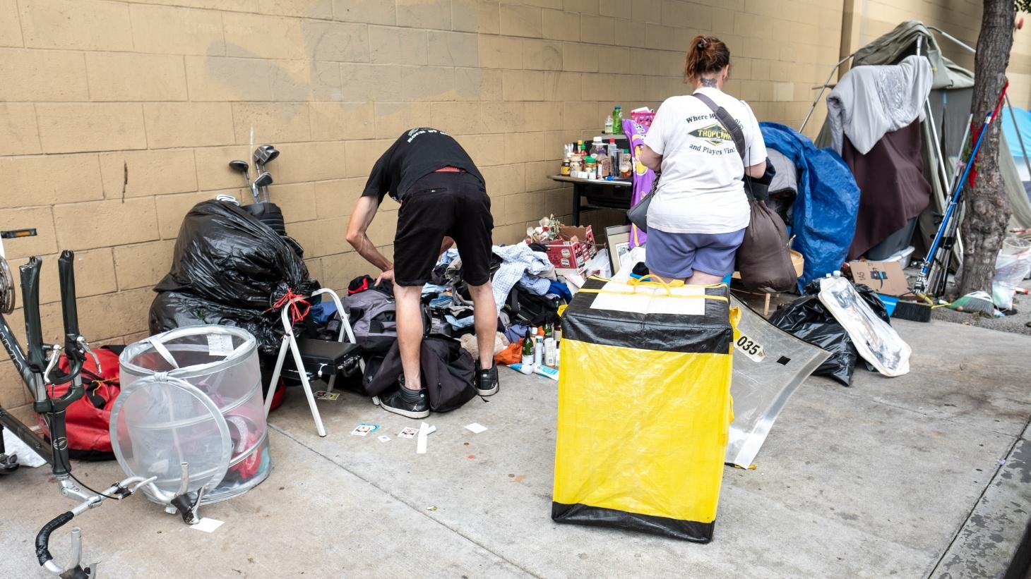 Homeless encampment in Culver City.