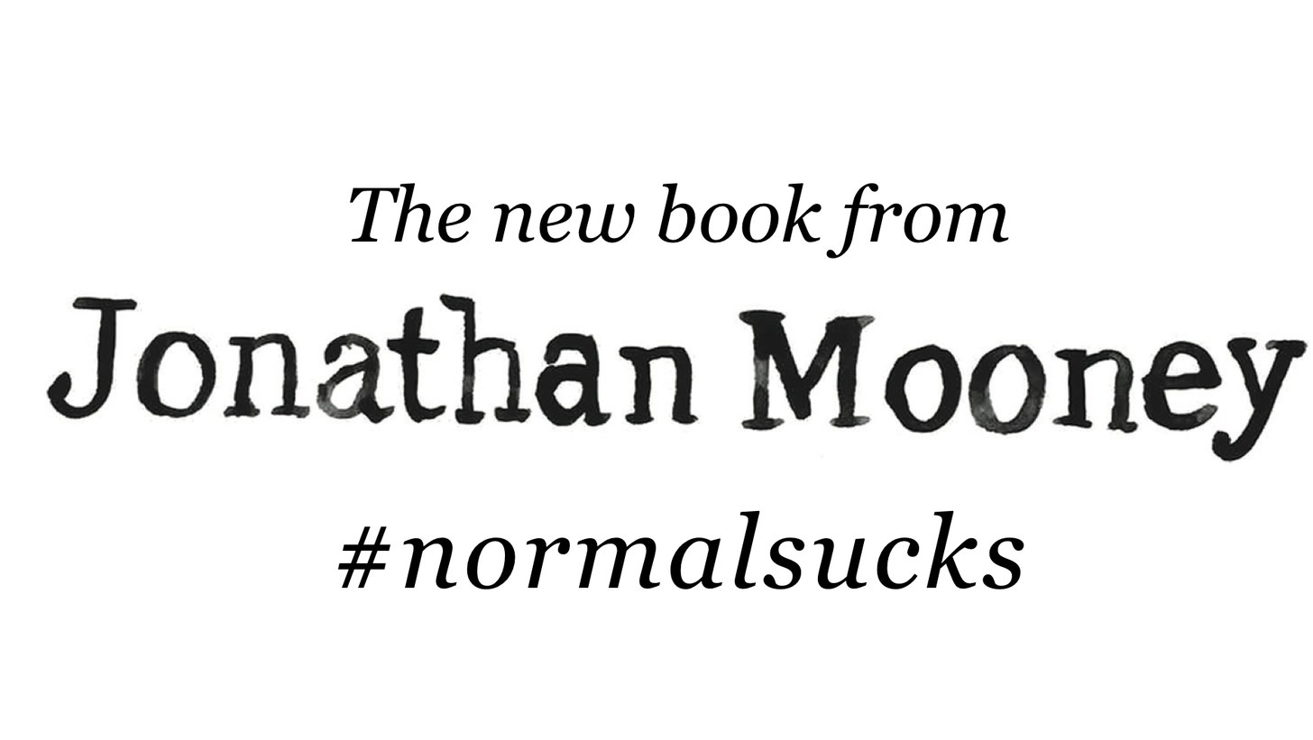"""Normal Sucks"" banner."