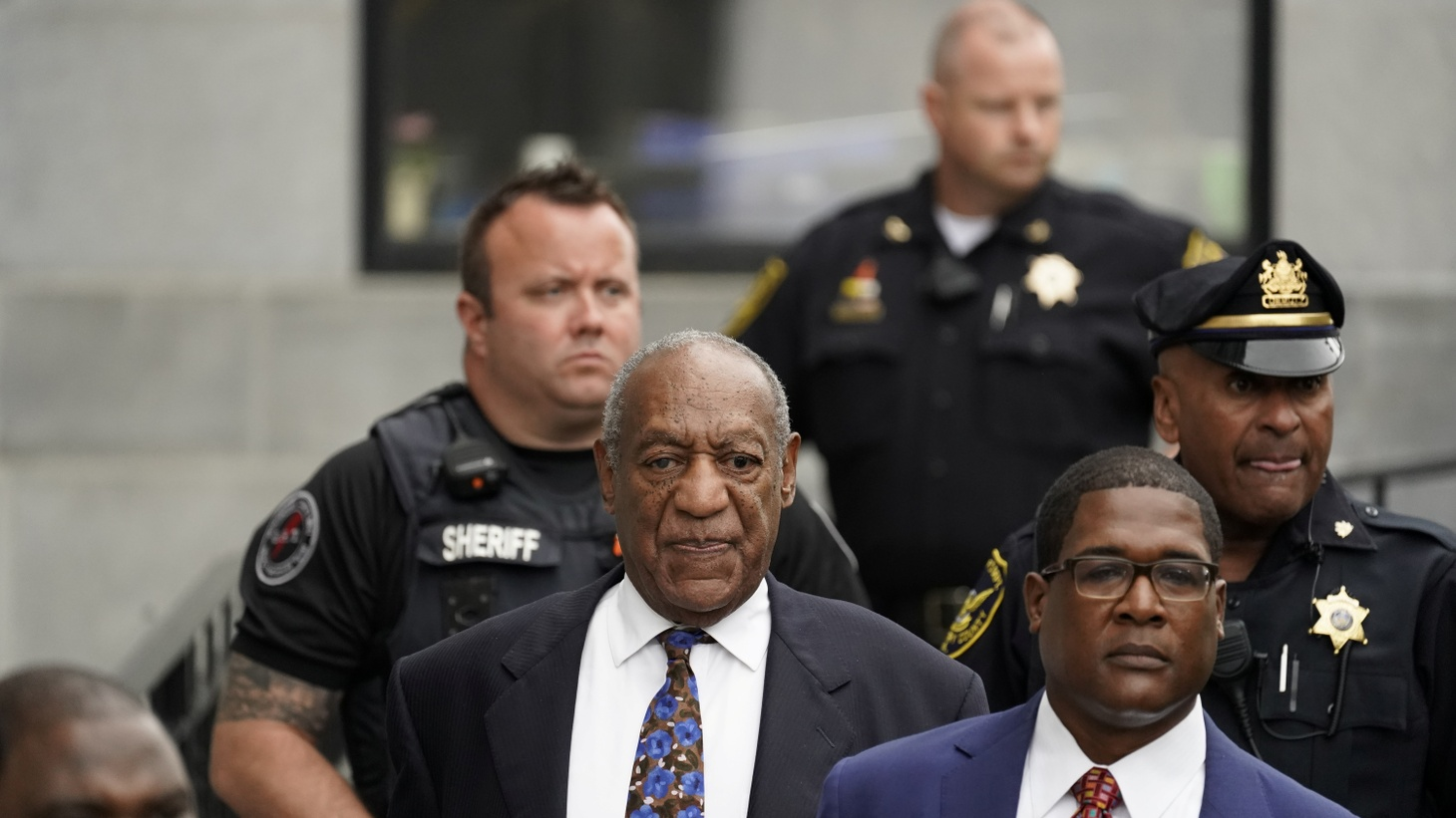 Actor and comedian Bill Cosby leaves the Montgomery County Courthouse after his first day of sentencing hearings in his sexual assault trial in Norristown, Pennsylvania, U.S., September 24, 2018.