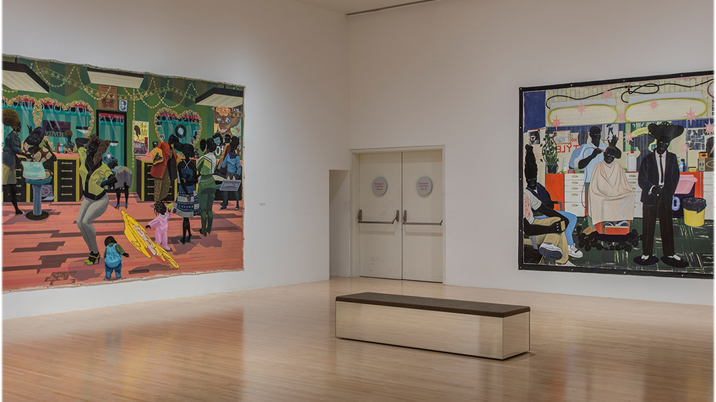 Press Play goes to LA's Museum of Contemporary Art to check out a 35-year retrospective of Kerry James Marshall's work. Marshall's paintings depict everyday black life, landscapes and historical events. Some of the pieces take up entire walls.