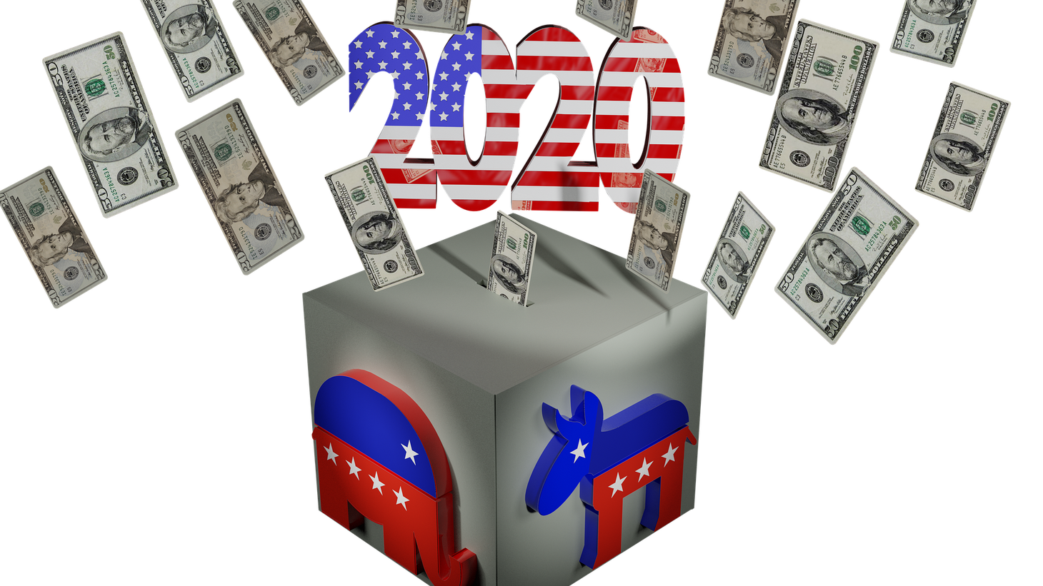2020 campaign fundraising illustration.